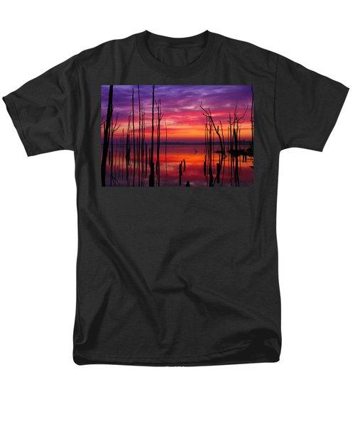 Reservoir At Sunrise Men's T-Shirt  (Regular Fit) by Roger Becker