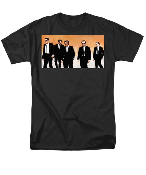 Men's T-Shirt  (Regular Fit) featuring the painting Reservoir Dogs Movie Artwork 1 by Sheraz A