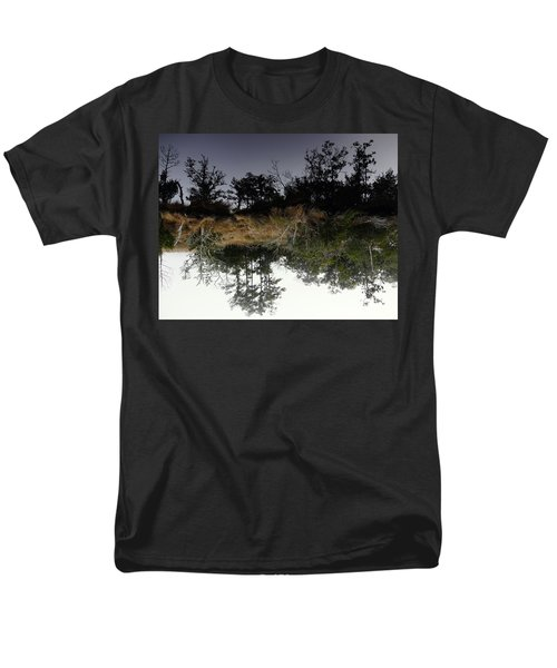 Reverse Reflection On A Crab Fishermans Canal Men's T-Shirt  (Regular Fit) by Richard Rosenshein