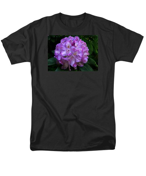 Men's T-Shirt  (Regular Fit) featuring the photograph Rhododendron ' Roseum Elegans '  by William Tanneberger