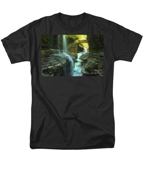 Rainbow Falls Watkins Glen Men's T-Shirt  (Regular Fit) by Adam Jewell