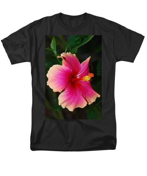 Rise And Shine - Hibiscus Face Men's T-Shirt  (Regular Fit) by Connie Fox