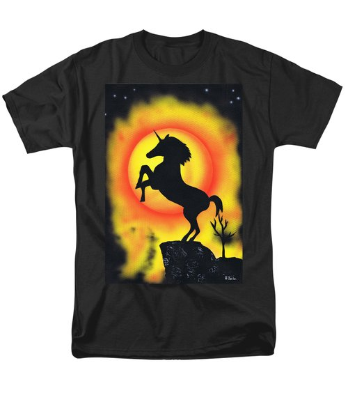 Men's T-Shirt  (Regular Fit) featuring the painting Rising by Kenneth Clarke