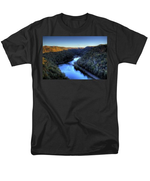 Men's T-Shirt  (Regular Fit) featuring the photograph River Cut Through The Valley by Jonny D