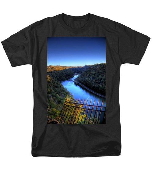 Men's T-Shirt  (Regular Fit) featuring the photograph River Through A Valley by Jonny D