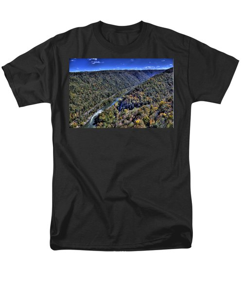 Men's T-Shirt  (Regular Fit) featuring the photograph River Through The Hills by Jonny D