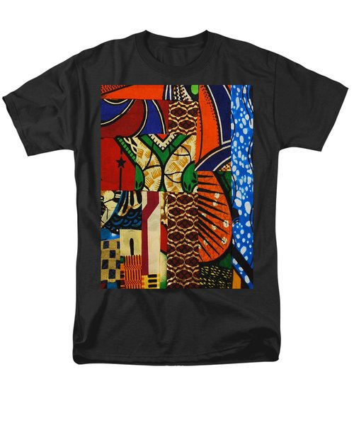 Men's T-Shirt  (Regular Fit) featuring the tapestry - textile Riverbank by Apanaki Temitayo M