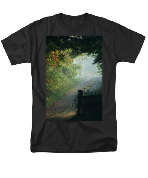 Road Goes On Men's T-Shirt  (Regular Fit) by Michael McGowan