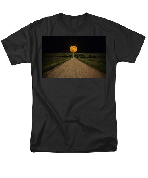 Road To Nowhere - Supermoon Men's T-Shirt  (Regular Fit) by Aaron J Groen