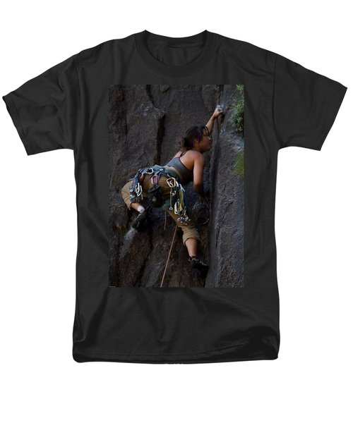 Rock Climbing Men's T-Shirt  (Regular Fit) by Brian Williamson