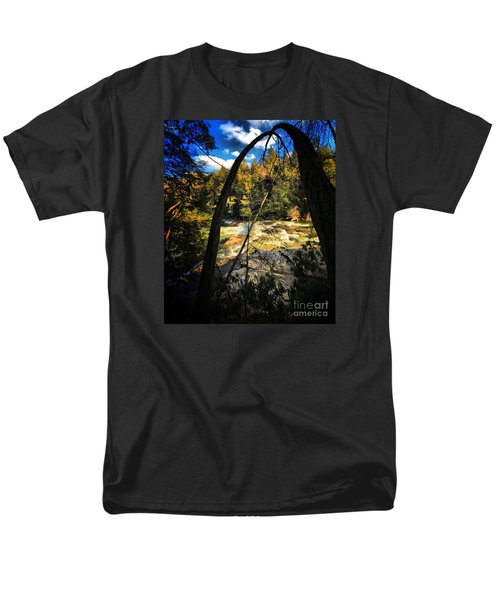 Rock Slide Men's T-Shirt  (Regular Fit) by Robert McCubbin