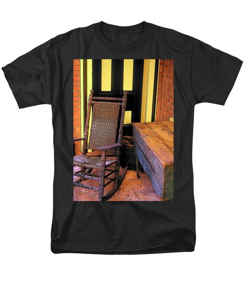 Rocking Chair And Woodbox Men's T-Shirt  (Regular Fit) by Rodney Lee Williams