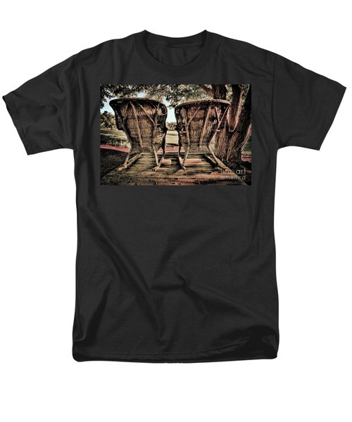 Rocking Chairs Men's T-Shirt  (Regular Fit) by Terry Garvin