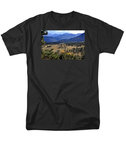 Men's T-Shirt  (Regular Fit) featuring the photograph Rocky Mountain Evening by Nava Thompson