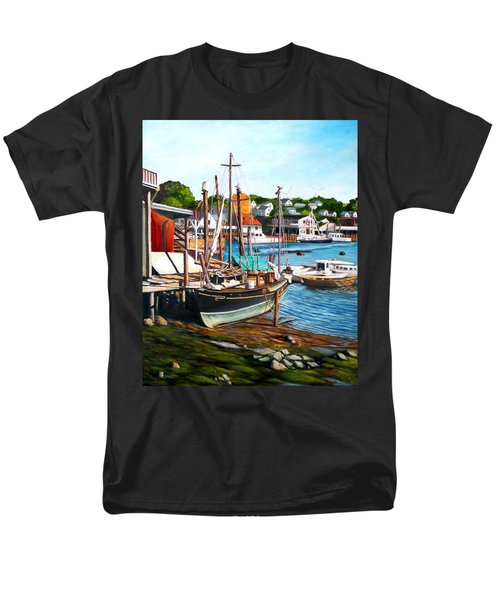 Rocky Neck October Men's T-Shirt  (Regular Fit) by Eileen Patten Oliver
