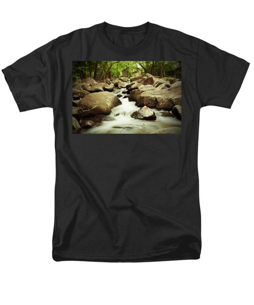 Rocky Stream Men's T-Shirt  (Regular Fit) by Michael Porchik