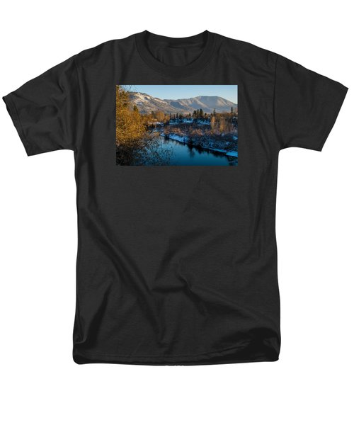 Rogue River Winter Men's T-Shirt  (Regular Fit) by Mick Anderson