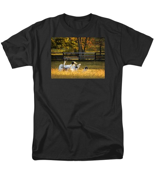 Men's T-Shirt  (Regular Fit) featuring the photograph Roll In The Hay by Joan Davis
