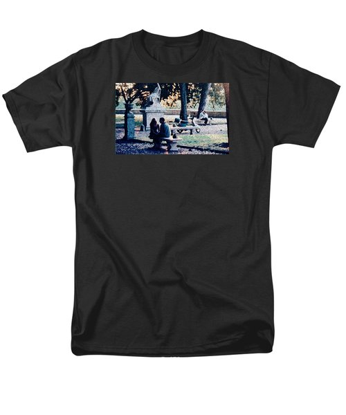 Men's T-Shirt  (Regular Fit) featuring the photograph Roman Romance Tivoli Gardens by Tom Wurl