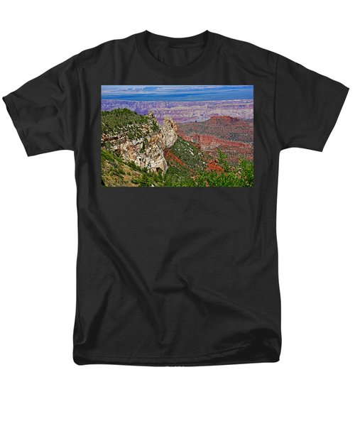 Roosevelt Point Two On North Rim/grand Canyon National Park-arizona   Men's T-Shirt  (Regular Fit) by Ruth Hager