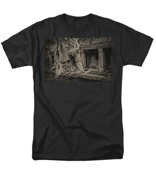 Roots In Ruins 7, Ta Prohm, 2014 Men's T-Shirt  (Regular Fit) by Hitendra SINKAR