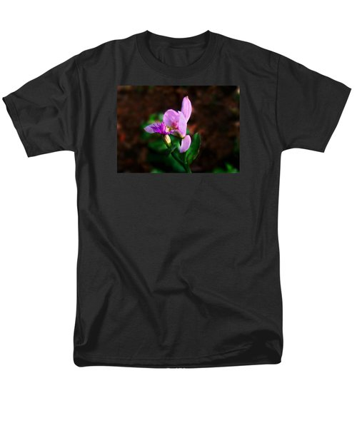 Men's T-Shirt  (Regular Fit) featuring the photograph Rose Pogonia Orchid by William Tanneberger