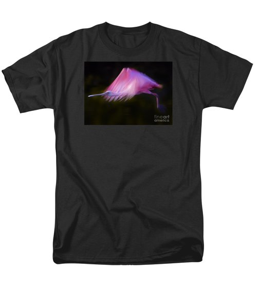 Men's T-Shirt  (Regular Fit) featuring the photograph Roseate Spoonbill     #6205 by J L Woody Wooden