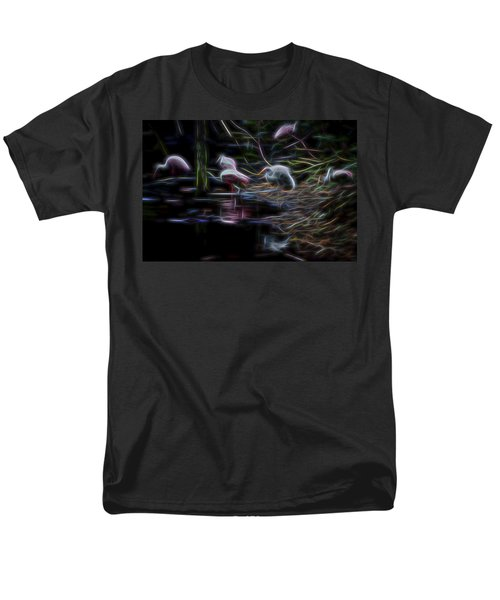 Men's T-Shirt  (Regular Fit) featuring the digital art Roseate Spoonbills 3 by William Horden