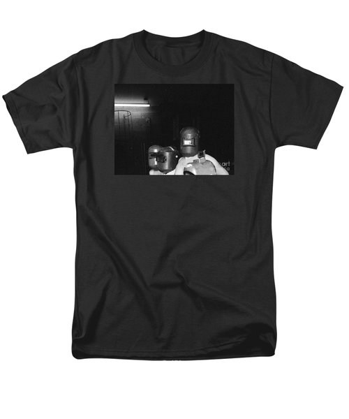 Men's T-Shirt  (Regular Fit) featuring the photograph Roses Are Covering Your Black Car by Steven Macanka