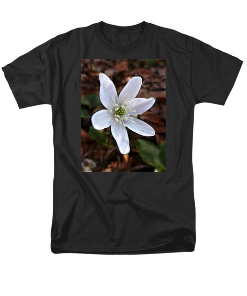 Men's T-Shirt  (Regular Fit) featuring the photograph Wild Round-lobe Hepatica by William Tanneberger