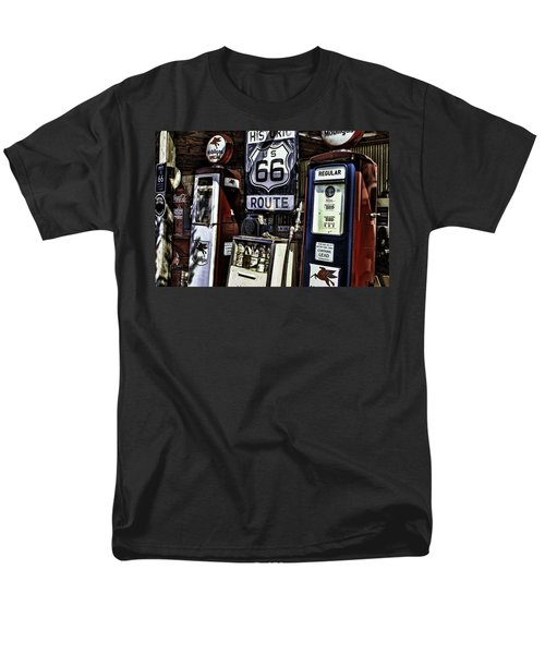 Men's T-Shirt  (Regular Fit) featuring the painting Route 66 by Muhie Kanawati