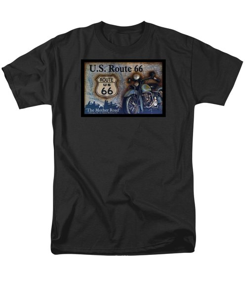 Route 66 Odell Il Gas Station Motorcycle Signage Men's T-Shirt  (Regular Fit) by Thomas Woolworth