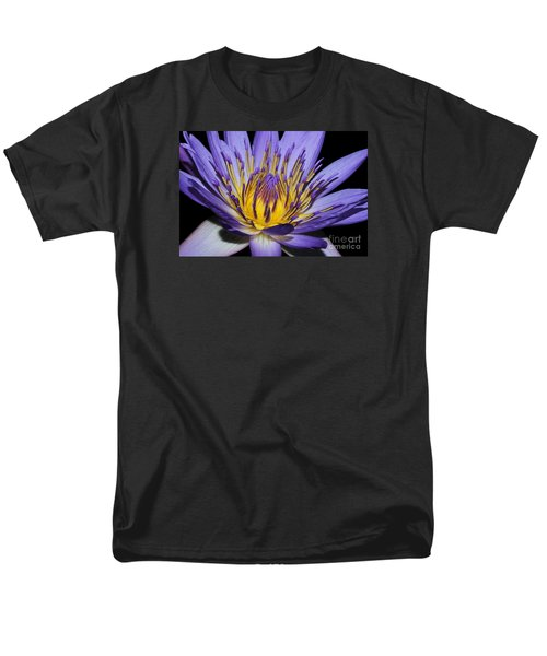 Royal Purple Water Lily #5 Men's T-Shirt  (Regular Fit) by Judy Whitton