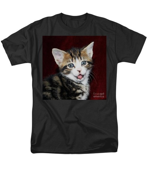 Men's T-Shirt  (Regular Fit) featuring the photograph Rude Kitten by Terri Waters