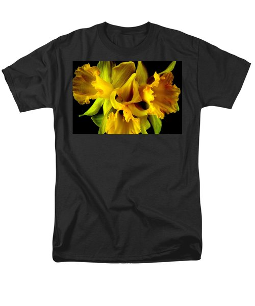 Ruffled Daffodils Men's T-Shirt  (Regular Fit) by Marianne Dow