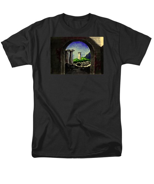 Men's T-Shirt  (Regular Fit) featuring the painting Ruins by Salman Ravish