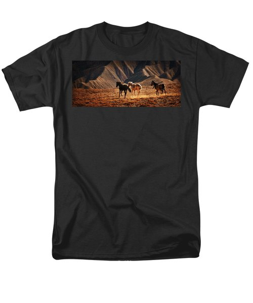 Men's T-Shirt  (Regular Fit) featuring the photograph Running Free by Priscilla Burgers