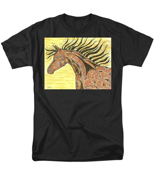 Running Wild Horse Men's T-Shirt  (Regular Fit) by Susie WEBER
