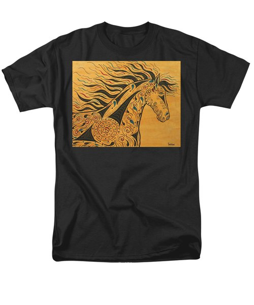Runs With The Wind Men's T-Shirt  (Regular Fit) by Susie WEBER