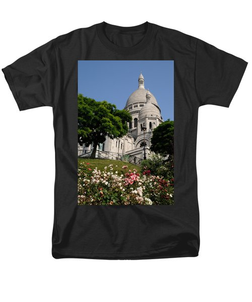 Men's T-Shirt  (Regular Fit) featuring the photograph Sacre Coeur Flowers by Jeremy Voisey