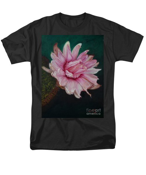 Men's T-Shirt  (Regular Fit) featuring the painting Sacred Red Lotus by Mukta Gupta