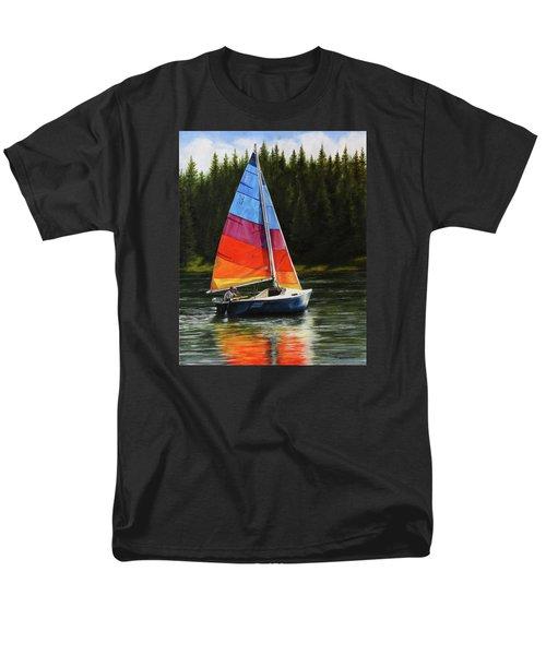 Sailing On Flathead Men's T-Shirt  (Regular Fit) by Kim Lockman