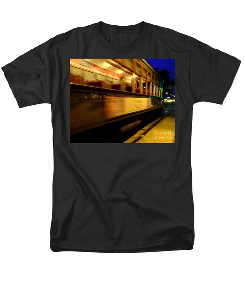 New Orleans Saint Charles Avenue Street Car In  Louisiana #7 Men's T-Shirt  (Regular Fit) by Michael Hoard