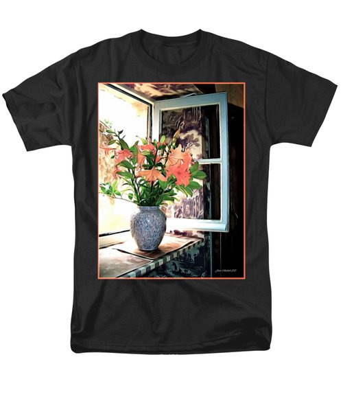 Men's T-Shirt  (Regular Fit) featuring the photograph Saint Emilion Window by Joan  Minchak