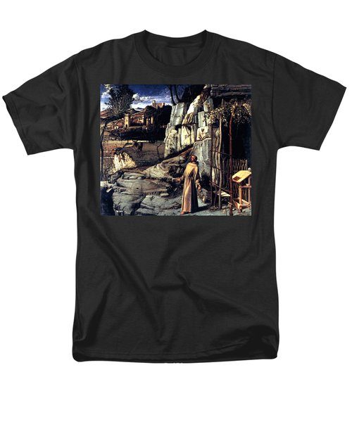 Men's T-Shirt  (Regular Fit) featuring the painting Saint Francis In Ecstasy 1485 Giovanni Bellini by Karon Melillo DeVega