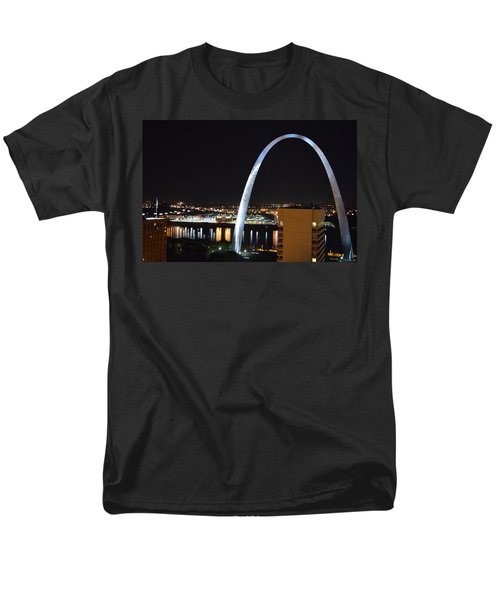 Men's T-Shirt  (Regular Fit) featuring the photograph Saint Louis Skyline And Jefferson Expansion Arch by Jeff at JSJ Photography