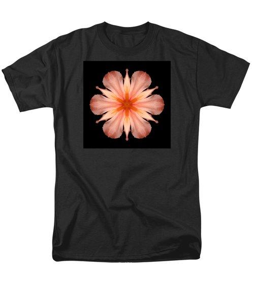 Salmon Daylily I Flower Mandala Men's T-Shirt  (Regular Fit) by David J Bookbinder