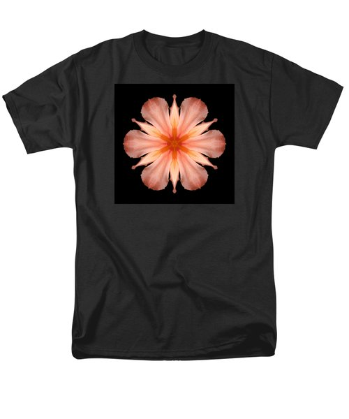 Salmon Daylily I Flower Mandala Men's T-Shirt  (Regular Fit)