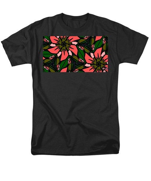 Men's T-Shirt  (Regular Fit) featuring the digital art Salmon-pink by Elizabeth McTaggart