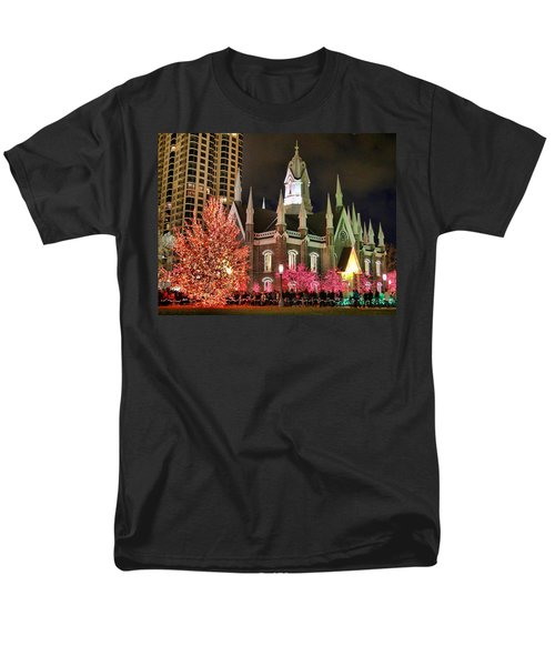 Men's T-Shirt  (Regular Fit) featuring the photograph Salt Lake Temple - 3 by Ely Arsha